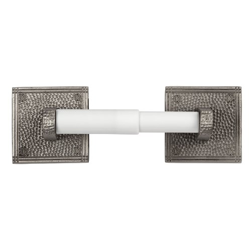 The Copper Factory CF136SN Solid Copper Toilet Tissue Holder with a Square Backplates, Satin Nickel by The Copper Factory
