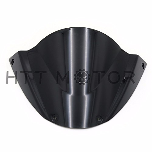 SMT-Windshield WindScreen Compatible With Ducati Monster 696 2008 2009 2010 2011 2012-2014 Black [B074V39YYR]