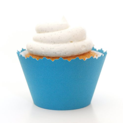 Cupcake Wrappers Solid Colors Adjustable - Set of