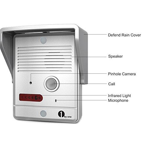 1byone Video Doorphone 2 Wires Video Intercom System 7 Inch Import