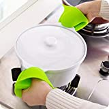 SHOPPOSTREET Silicone Pot Holder Heat Resistant, Oven Mitts Glove Cooking Pinch Grips Glove Hand Clip Convenient Pot Holder Kitchen Pot Holder Utensil Tool (Multicolor) - Set of 2