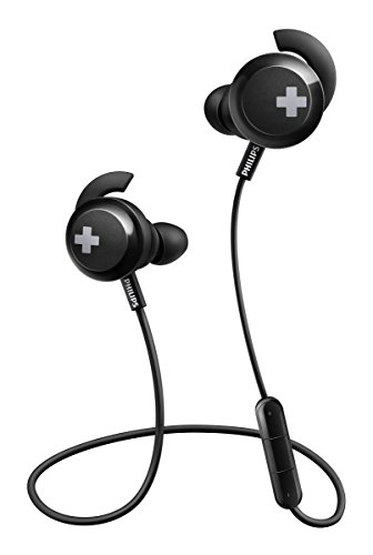 Philips Bass+ Bluetooth Earphones with Mic - Black (SHB4305BK/27)