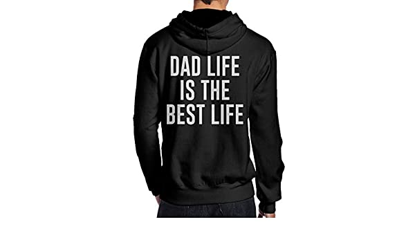 b00dd223 Amazon.com: PROUDAD Dad Life is The Best Life Gift for New Dad Men's Hooded  Sweatshirt: Clothing