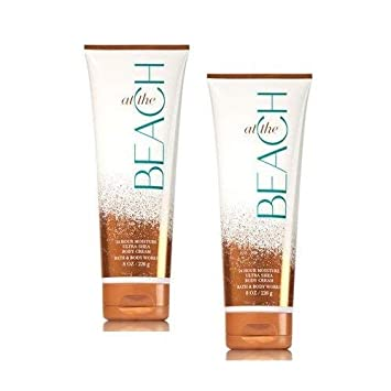 Bath and Body Works 2 Pack At The Beach Ultra Shea Body Cream 8 Oz.