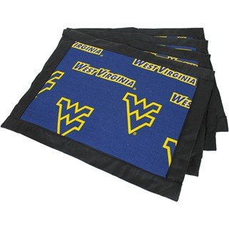 (Set of 8) - West Virginia Mountaineers Placemats w/ border - Great for the Kitchen, or that Next Picnic or Tailgate Party! - Save Big By Bundling! -