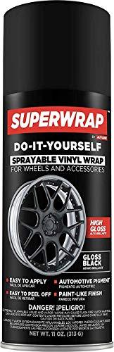 (Superwrap sprayable Vinyl wrap Gloss Series - Gloss Black- 11oz)