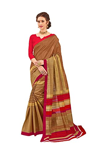 Dessa Collections Indian Sarees For Women Wedding Brown Designer Party Wear Traditional Sari by Dessa Collections