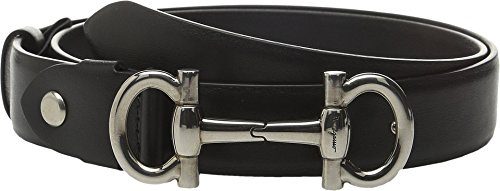 Salvatore Ferragamo Women's 23B336 Nero 75 (30'' Waist) by Salvatore Ferragamo
