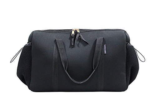 Price comparison product image Casper & Coal Barrel Duffle Weekender Overnight Travel Carry On Bag - Black