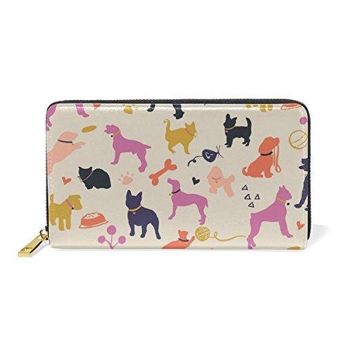 2 Handbags Zip Clutch Russell Pattern Terrier Womens Around Dog Wallet TIZORAX Jack Purses And Puppy Organizer SvPwYZZaq