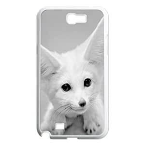 [White Fox] Fennec Fox Case for Samsung Galaxy Note 2, Samsung Galaxy Note 2 Case Fashionable Cheap for Girls {White}