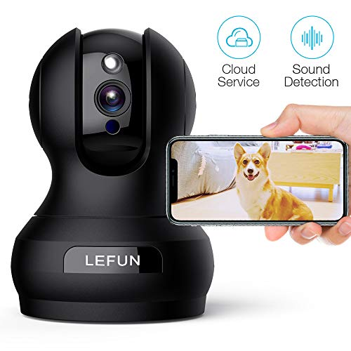 Pet Camera, Lefun 1080P Wireless Security Camera with Sound Detect Motion Tracking Two Way Audio Updated Cloud Surveillance Camera Supports 2.4G WiFi Night Vision Remote View for Home Baby Dog Monitor