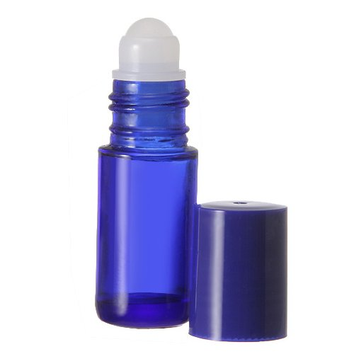 5 ml. Glass Roll on Bottle. Perfect for Essential Oils Aromatherapy, Perfume and Cologne. Plastic Roller. Pipettes Included (24 Bottles, Blue) (Perfume The Story Of A Murderer Streaming)