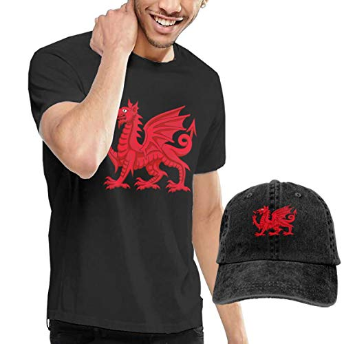 Cotton Basic Tank Top Tees Jersey Casual T-Shirts Unisex Vintage Adjustable Baseball Caps Hats for Youth Adult Unisex College Welsh Dragon Funny