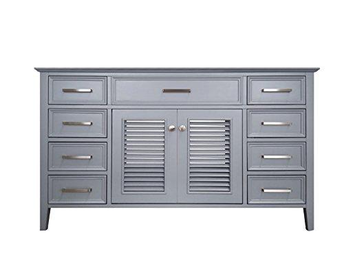 Ariel Kensington 54 in. Single Rectangle Sink Base Cabinet in Grey (Kitchen Sink Base Cabinet)