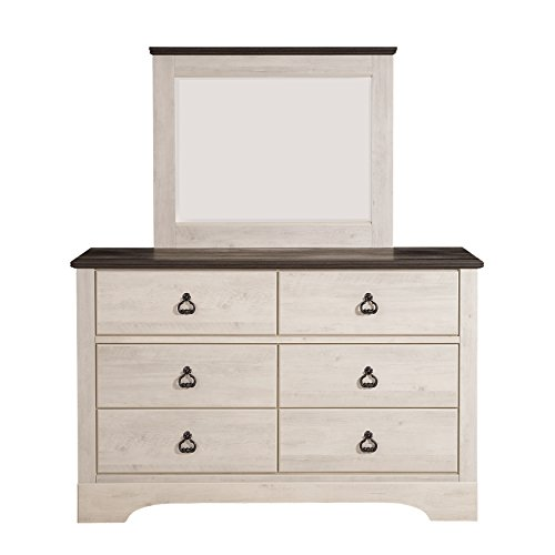 Standard Furniture 51218 Rivervale Distressed Mirror, (Bureau Mirror)