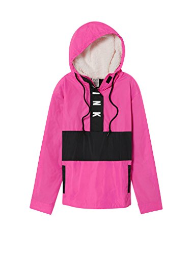 Victoria's Secret Pink Sherpa Lined Hood Anorak Windbreaker