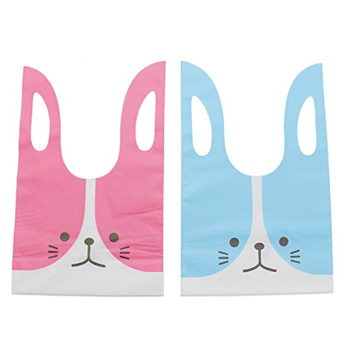 Buorsa 100Pcs Bunny Shape Goodie Treat Party Gift Bags for B