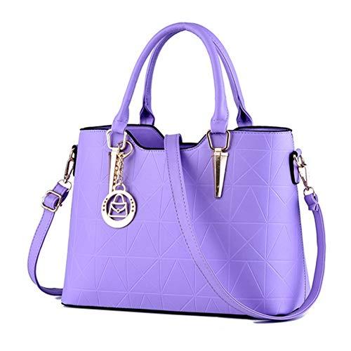 Metallo Elegante Donna Lusso Sweet A Borse Borsa Femminile Lavender Di Moda Lady Decorazione Pu In Da Spalla wFgqI