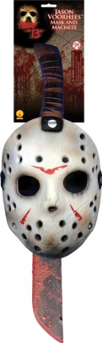 Jason Costume For Men (Rubie's Costume Co Jason Mask & Machete Set Costume)