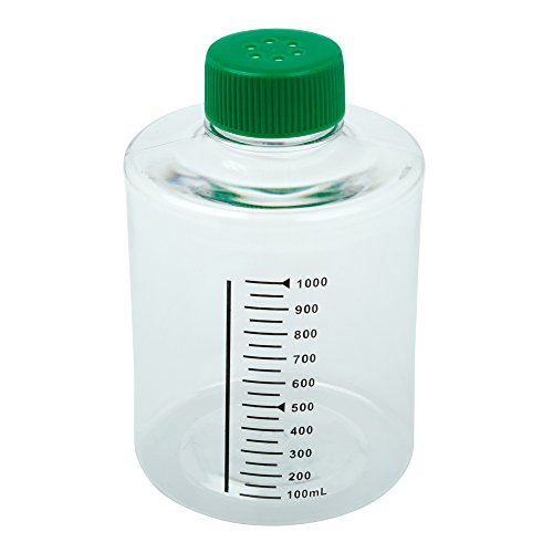 (Celltreat 229383 490cm² Roller Bottle, Sterile, Tissue Culture Treated, Printed Graduations, Vented Cap (Case of 24))