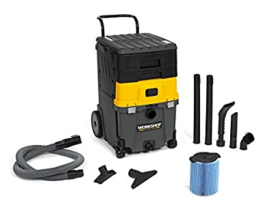 WORKSHOP Wet Dry Vac WS1100CA 11-Gallon Mobile Wet Dry Shop Vacuum Cleaner Station, 6.5 Peak HP Wet Dry Auto Vacuum Cleaner for Auto And Home