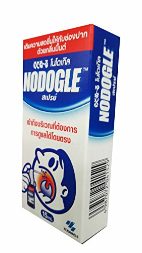 Price comparison product image 3 packs of NODOGLE Mouth Spray for Moisturizing and Refreshing. (15 ml/ pack)