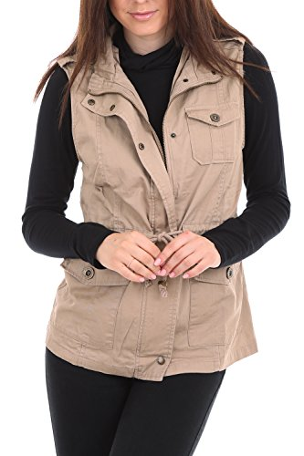 Womens Lightweight Military Anorak Cotton Vest Jacket