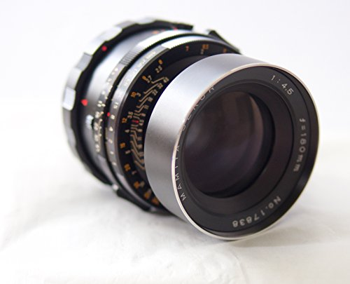 MAMIYA RB67 SEKOR 180MM F 4.5 LENS WITH RUBBER HOOD AND REAR CAP