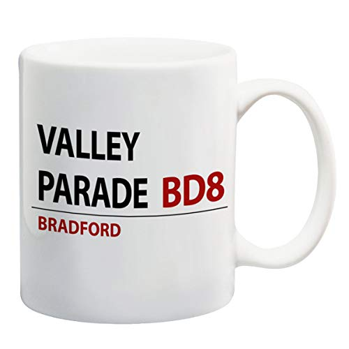 Valley Parade Bradford City Football Club Street sign ceramic mugs coffee cup