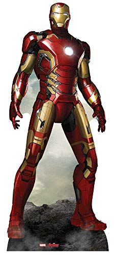 Star Cutouts Official Marvel Avengers Movie Lifesize Cardboard Cut Out of Iron Man / Tony Stark (Robert Downey Jr) 193cm Tall 79cm -