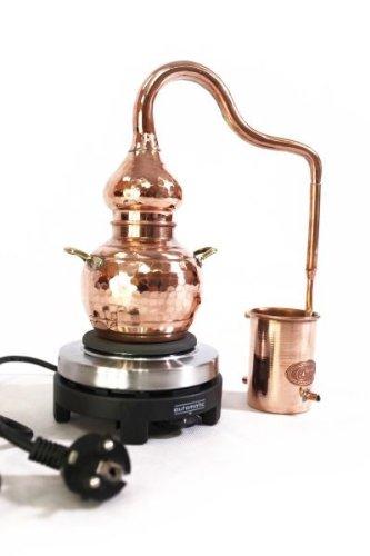 CopperGarden® Destille Alembik 0,5 L, elektrisch