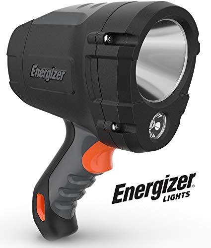 ENERGIZER HC-600 LED Spot light, IPX4 Water Resistant, Super Bright LED Spotlight Flashlight, Impact-Resistant, Heavy Duty Durability, Batteries Included