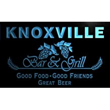 pr2180-b Knoxville Bar & Grill Beer Wine Neon Light Sign