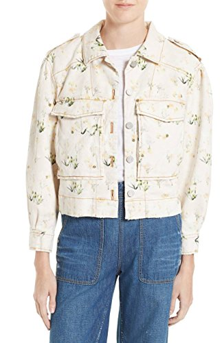 Rebecca Taylor Floral Denim Jacket, Ballet - 6 (Jacket Denim Taylor)