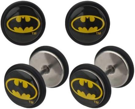 Sold as a pair Bat man Body Accentz Earrings Rings Fake Batman Cheater Plug 18 gauge