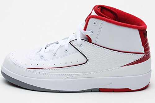 Jordan Preschool 2 Retro Bp (Ps) WHITE/VARSITY RED/CEMENT GREY/BLACK 395719-102 3 (Varsity Red Cement)