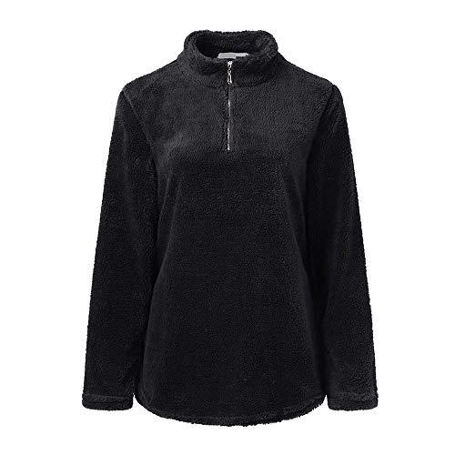 Spbamboo Womens Tops Long Sleeve Blouse Sweatshirt Zipper Fleece Warm Pullover by Spbamboo