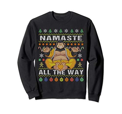 Gorilla Ugly Christmas Sweatshirt Namaste All The Way