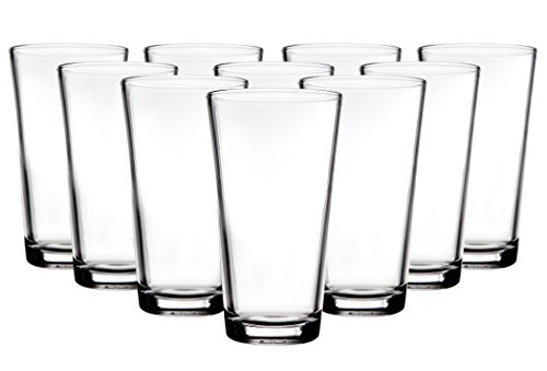 Palais Glassware 'Hendaye' Collection, Clear Glass Sets (Set of 10-17 OZ Highballs, Clear)