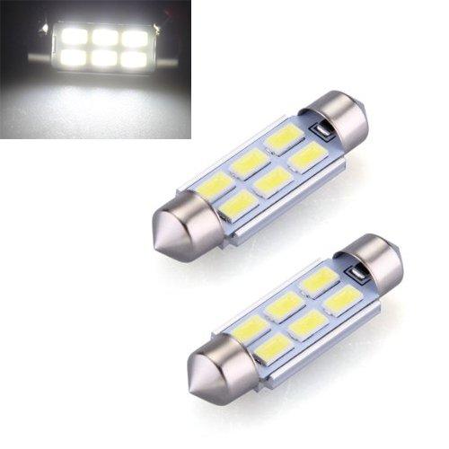 Amazon.com: Lamp - TOOGOO(R) 2 x 39mm 5630 6 SMD LED bulb lamp Dome Festoon 185LM 6500K White car: Automotive