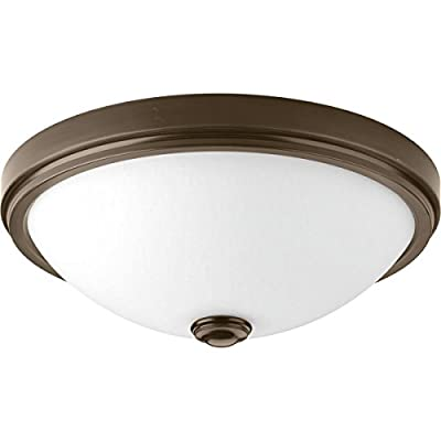 Progress Lighting P350008-009-30 Led Linen One-Light Dc LED Flush Mount