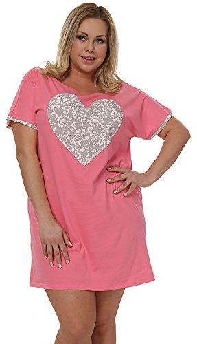 Italian Fashion IF Camisón para Mujer Maya 0114 Rosa/Gris