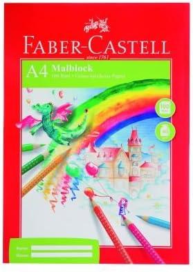 5x Faber Castell Zeichenblock / DIN A4 / 100 Blatt je Malblock