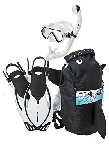 HEAD Mares Sea Pals Character Kids Mask Fin Snorkel Set, White, Small/9-13
