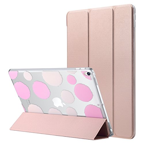 (ULAK iPad Pro 10.5 Case, Slim Lightweight Smart Case Stand for Apple iPad Pro 10.5 inch 2017 Released Colorful Clear Back Cover with Auto Sleep/Wake Function, Rose Gold)