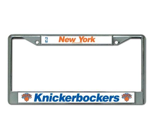NBA New York Knickerbockers Chrome License Plate Frame]()
