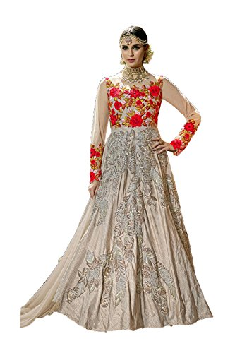 Fashions Trendz Indian Women Designer Partywear Ethnic Traditonal Grey Salwar Kameez by Fashions Trendz