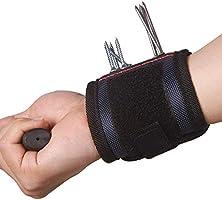tijeras cintur/ón de herramientas para personal de bricolaje brocas Pulsera magn/ética con 6 imanes fuertes que sujetan tornillos clavos