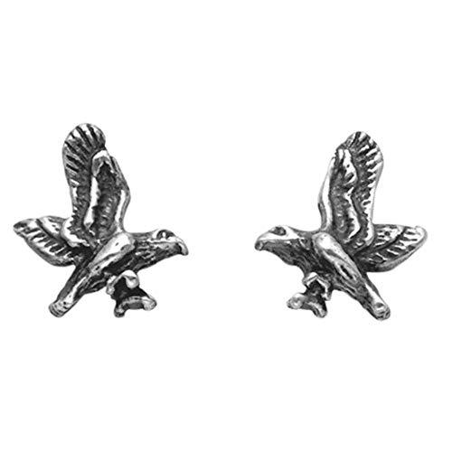 Small Sterling Silver Eagle in Flight Stud Earrings